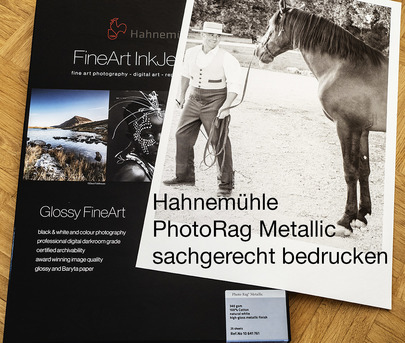 Photo Rag Metallic richtig bedrucken